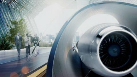 El Hyperloop bate su récord de velocidad.