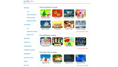Ecards virtuales felicitaciones navidad