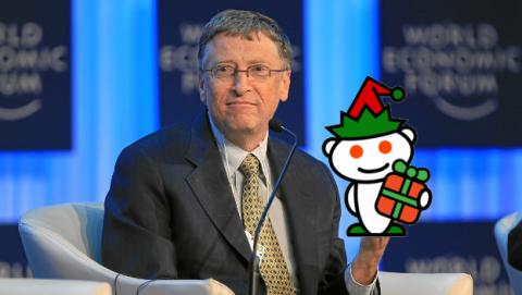 Qué ha regalado Bill Gates en el Secret Santa 2017 de Reddit.