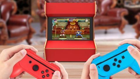 Esta funda plegable convierte tu Nintendo Switch en una recreativa