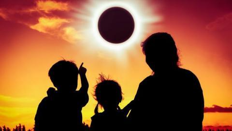 Ondas de proa eclipse solar agosto 2017