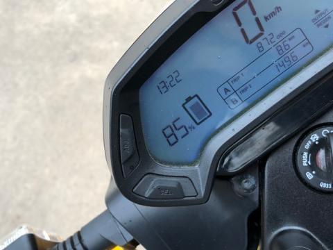 Cuadro de instrumentos de la moto