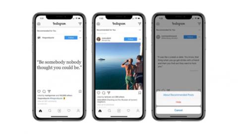 Nueva función imágenes recomendadas Instagram