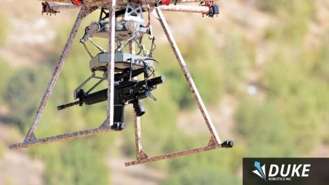 Así dispara el dron francotirador del ejército israelí