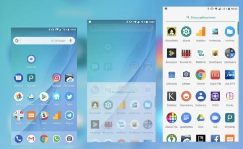 Cajón de aplicaciones Mi A1 en Android Oreo
