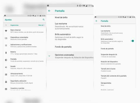 Ajustes en Android Oreo