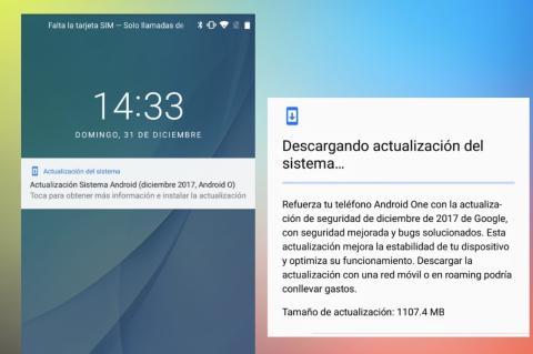 Actualización OTA Android 8 Oreo en Mi A1