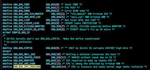 código bug intel