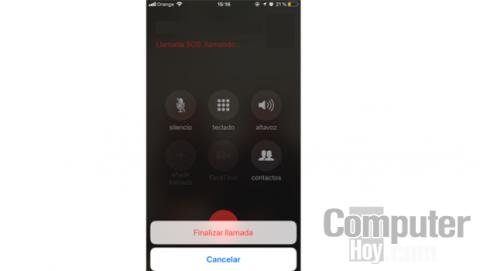 Cancelar llamada emergencia iPhone