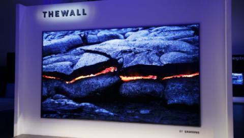 Así es The Wall, el televisor modular de Samsung con MicroLED.