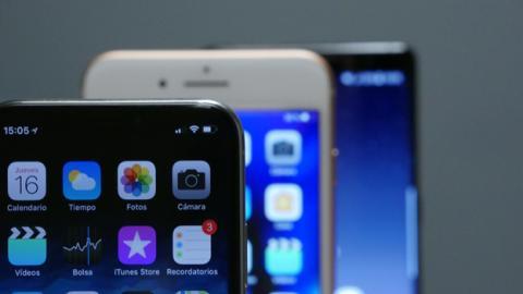 iPhone X, iPhone 8 Plus y Note 8