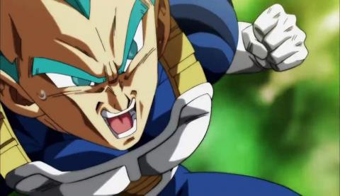 vegeta combate en el capítulo 122 de Dragon Ball Super