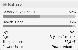 Estado batería de tu Macbook