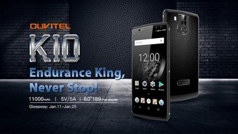 Oukitel K10 con 50 dólares de descuento en su lanzamiento