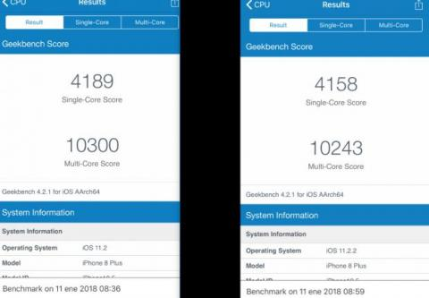 iphone 8 plus benchmark