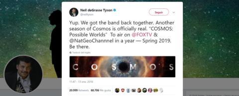 La segunda temporada de Cosmos tiene fecha de estreno
