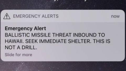 La alerta de misil en Hawái se debió a un error de diseño.