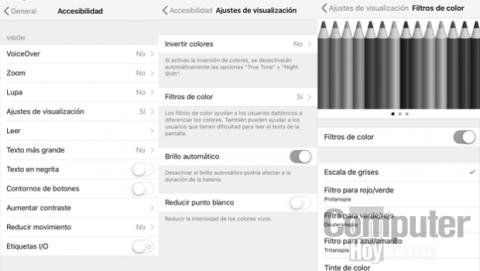 poner la pantalla en blanco y negro iPhone