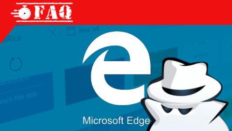 Abrir ventana inPrivate en Edge.