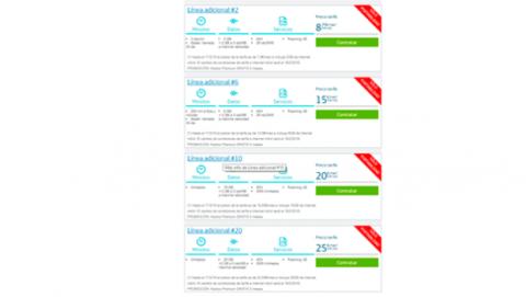 Precio tarifas adicionales Movistar