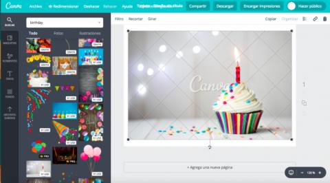 Crear felicitación cumpleaños