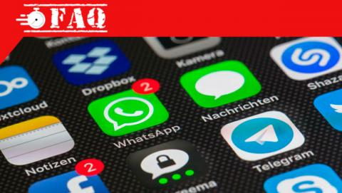 Denunciar mensaje en WhatsApp.