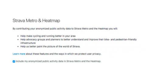 Desactivar mapa calor Strava versión web