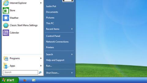 Cómo poner el menú de inicio de Windows XP en Windows 10.