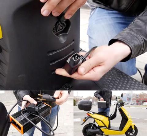 Así se carga la batería de esta scooter eléctrica