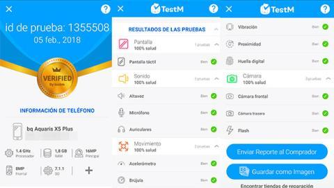Informe de estado de tu dispositivo con TestM