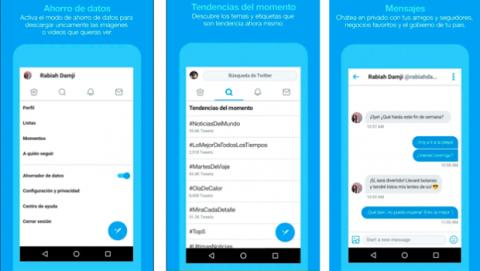 Cuánto espacio ocupa Twitter Lite para Android