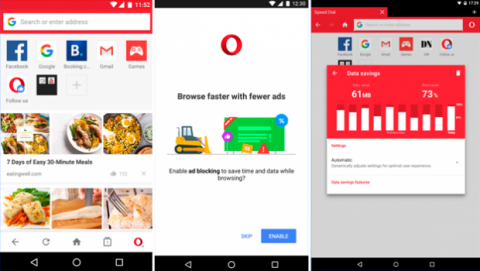 Aplicación Opera Mini para Android