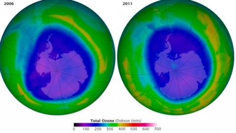 Evolución agujero capa de ozono