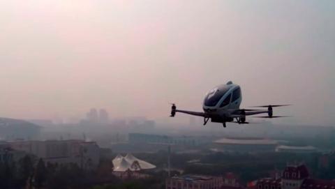 Primer vuelo EHang taxi dron con pasajeros