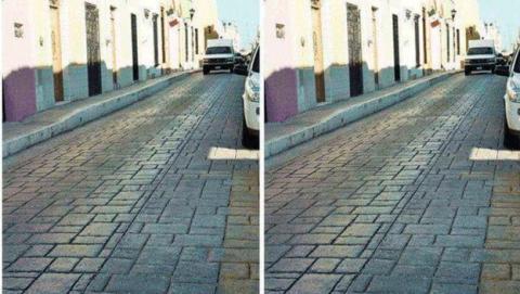 Carretera imágenes ilusión óptica