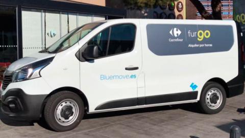 furgo alquiler furgonetas por horas Bluemove Carrefour