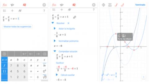 Aplicación calculadora científica estudiantes Match 42