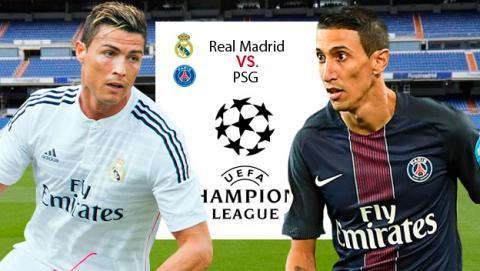 como ver online el Real Madrid PSG de Liga de Campeones por Internet en directo