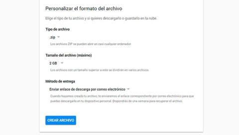 Descarga tus correos y calendarios de Gmail