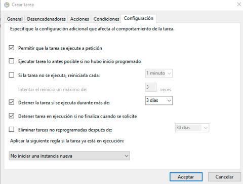 Programador de tareas Windows 10