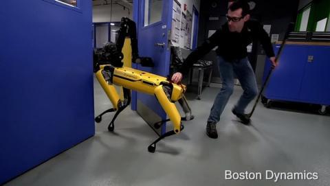 Así se rebela un robot contra un humano, en vivo y en directo