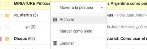 Dónde se archivan los correos en Gmail