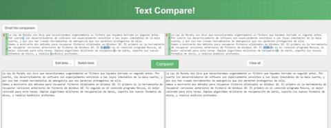 Cómo comparar dos textos para ver las diferencias