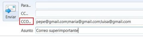Qué es la copia oculta (BCC o CCO) en los correos electrónicos