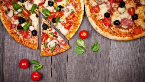 desayunar pizza