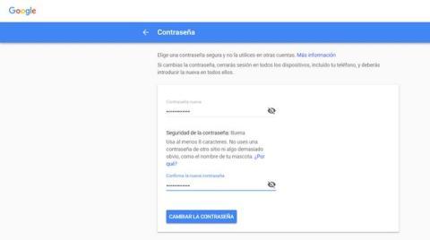 Cómo cambiar la contraseña de Gmail