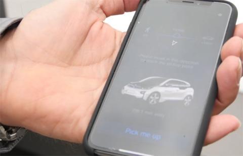 La aplicación que BMW nos enseñó en la demostración de su coche autónomo