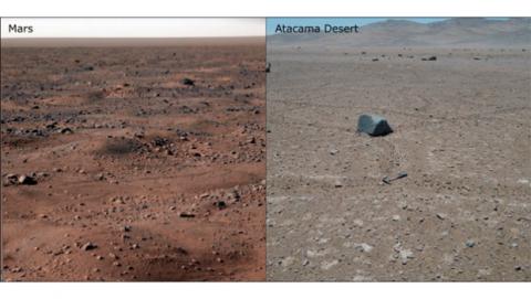Restos de vida en la Tierra parecidos a Marte