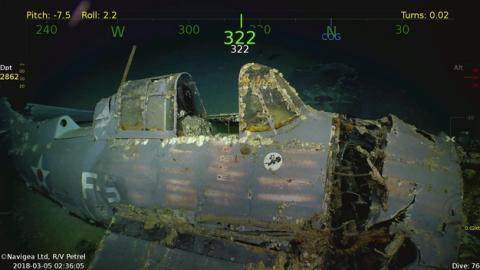 El fundador de Microsoft encuentra un portaaviones hundido en la Segunda Guerra Mundial