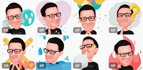 Ejemplos de los Emojis AR que puedes crear